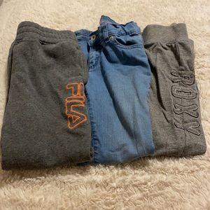 Bundle of 3 Pairs of Girls Pants Size 7/8